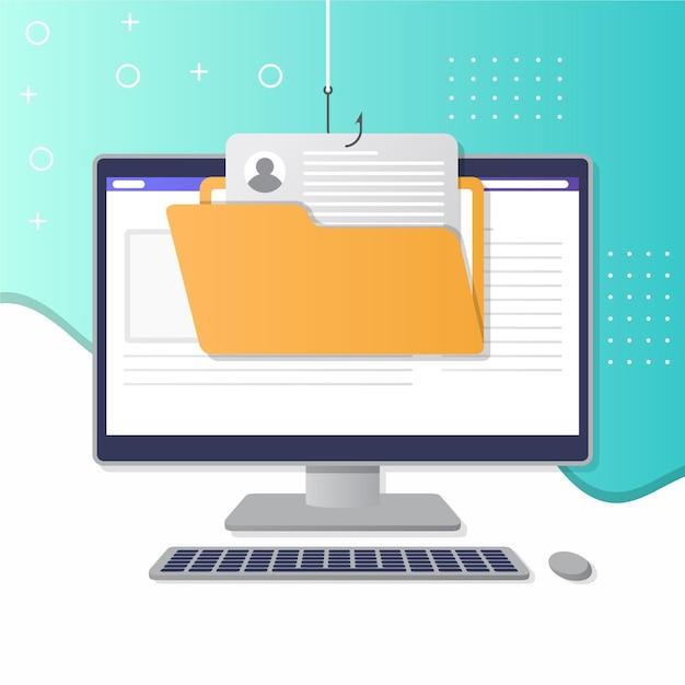 Phishing-kontodesign Kostenlosen Vektoren