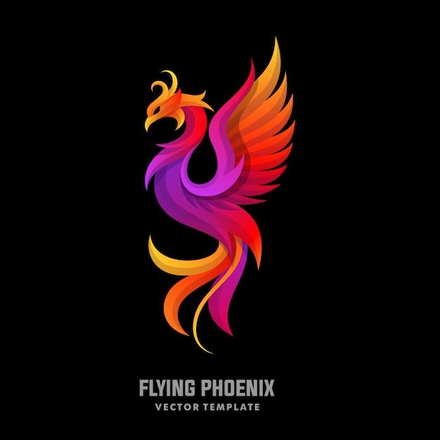 Phoenix-konzept entwirft illustrationsvektorschablone Premium Vektoren