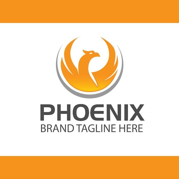 Phoenix logo design vektor Premium Vektoren