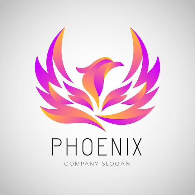 Phoenix logo konzept Premium Vektoren