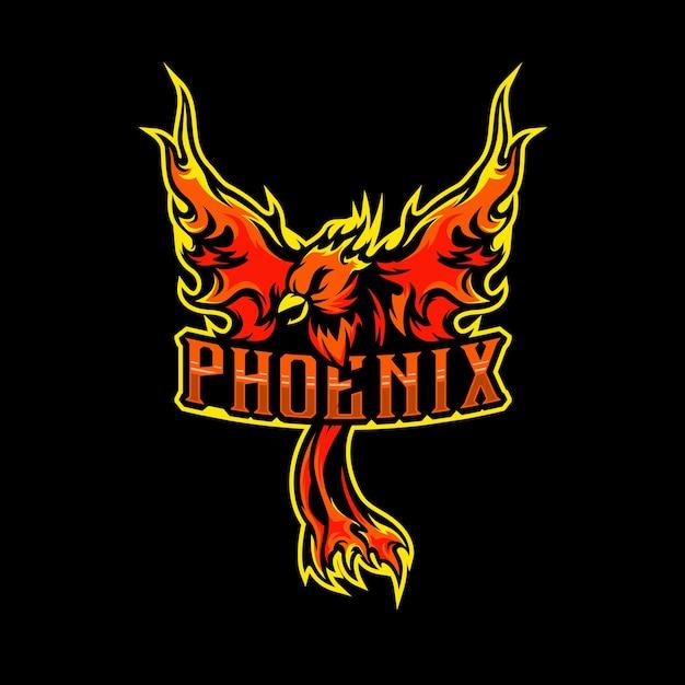 Phoenix maskottchen logo esports inspiration Premium Vektoren