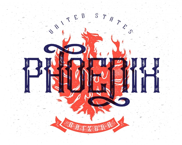 Phoenix vektorplakat Kostenlosen Vektoren