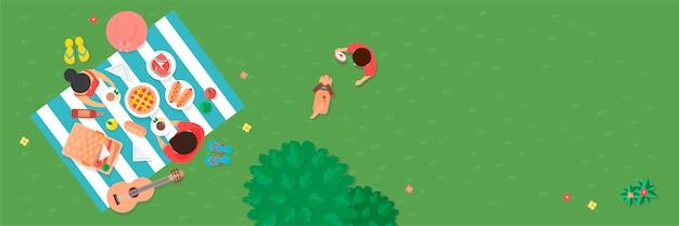 Picknick im park Kostenlosen Vektoren