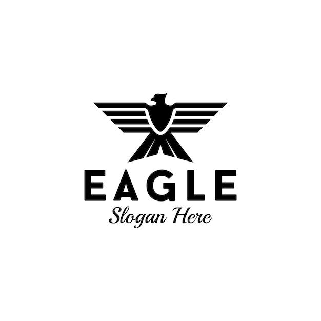 Pictorial eagle logo deisgn Premium Vektoren