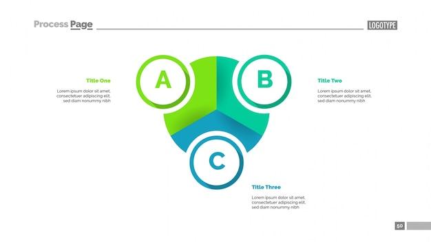 Pie diagramm mit drei elementen vorlage Kostenlosen Vektoren