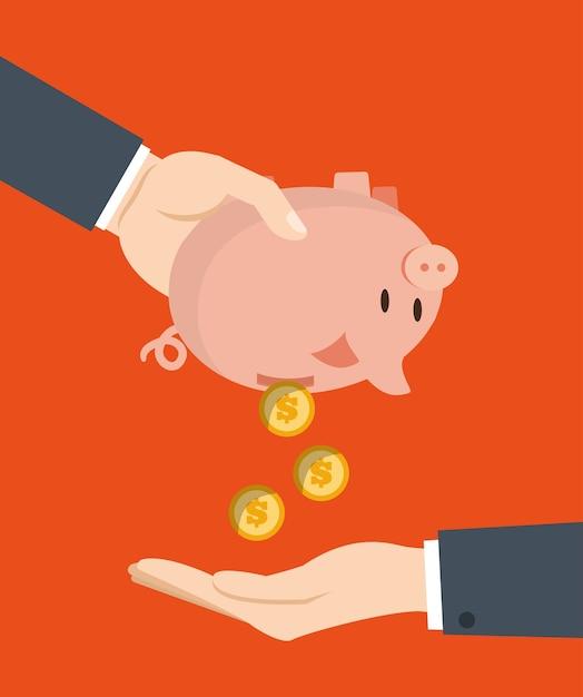 Piggy ikonendesign, vektorillustration Premium Vektoren