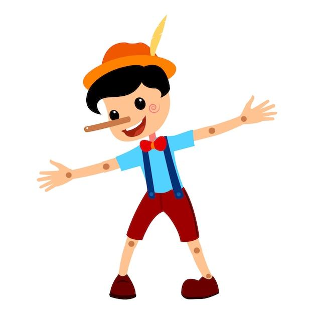 Pinocchio geschichte vectorial illustration. Premium Vektoren
