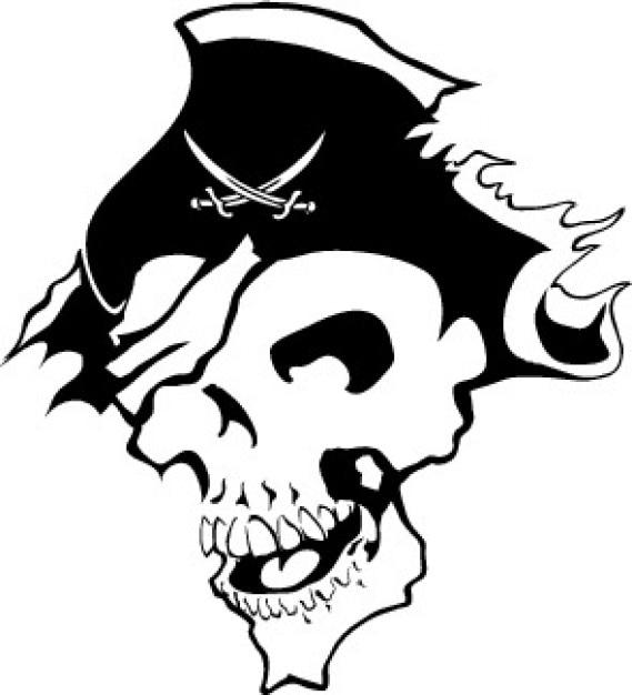 piraten totenkopf bild download der kostenlosen vektor. Black Bedroom Furniture Sets. Home Design Ideas