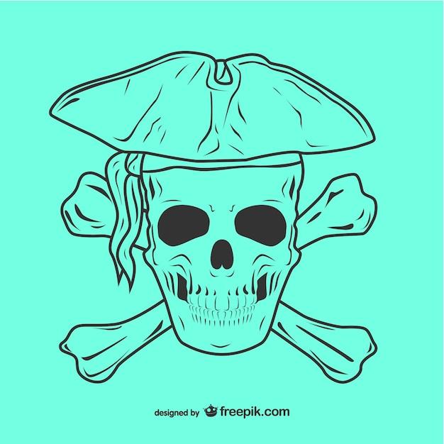 Piraten Totenkopf Symbol Abbildung Download Der