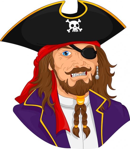 Piratenmann maskottchen Premium Vektoren