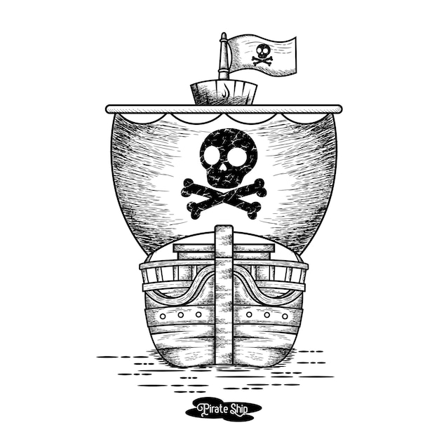 Piratenschiff Premium Vektoren