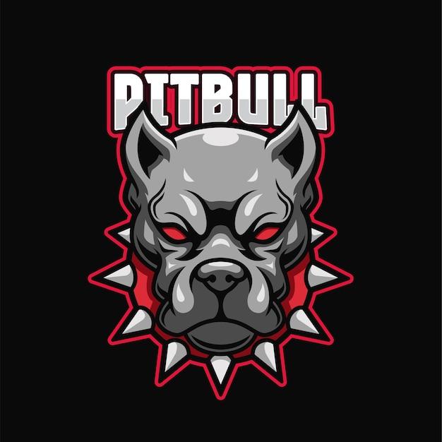 Pitbull e-sport logo vorlage Premium Vektoren