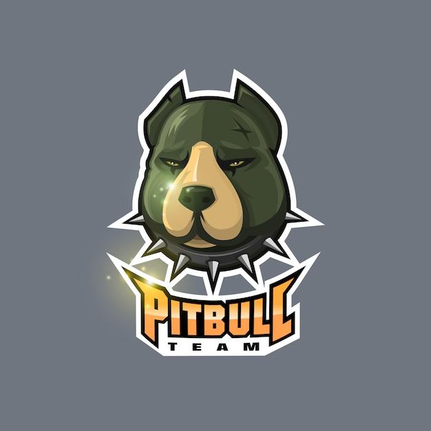 Pitbull-logo Premium Vektoren