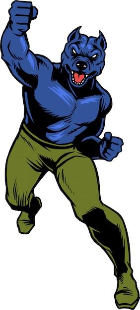 Pitbull power punch Premium Vektoren