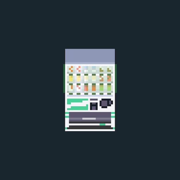 Pixel art softdrink-verkaufsautomat. Premium Vektoren
