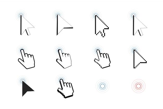 Pixelcursor-symbol Premium Vektoren