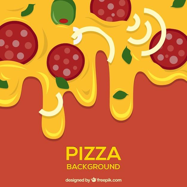 Pizza abendessen Kostenlosen Vektoren