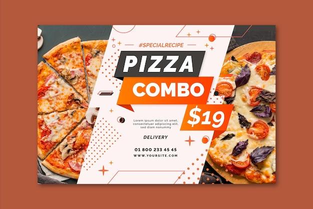 Pizza banner vorlage Premium Vektoren