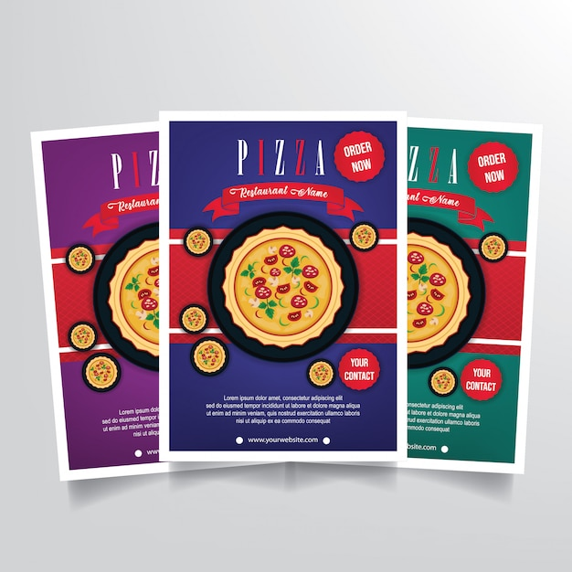 Pizza flyer vorlage vektor Premium Vektoren
