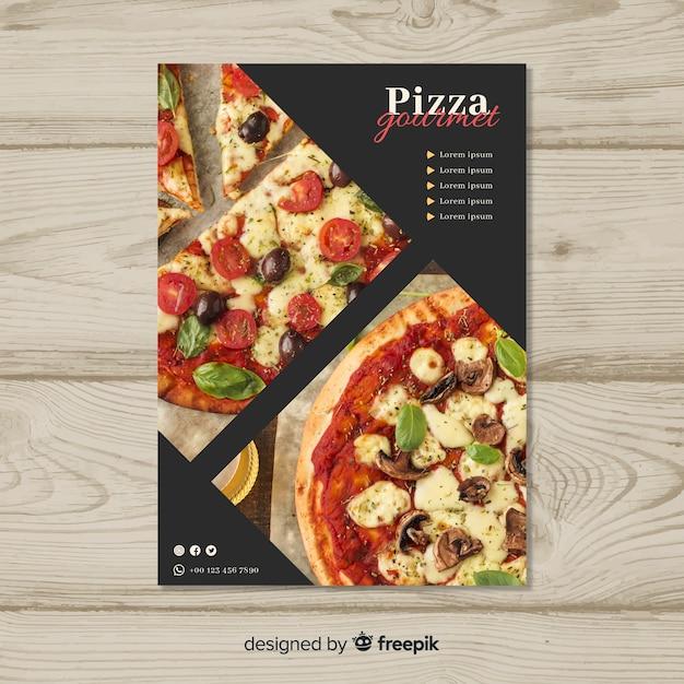 Pizza-flyer-vorlage Kostenlosen Vektoren