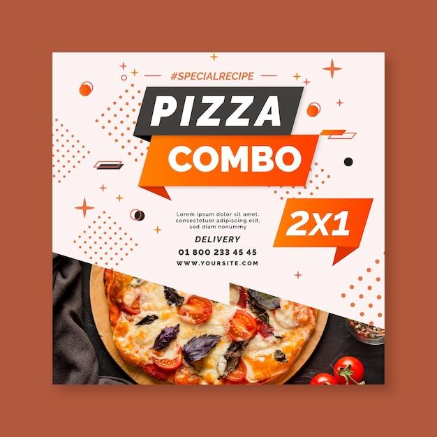 Pizza flyer vorlage Premium Vektoren