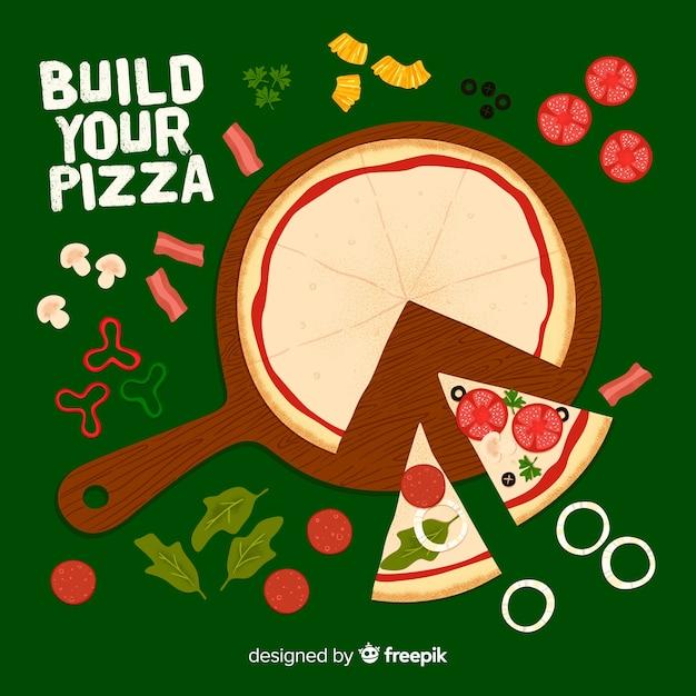 Pizza hintergrund Kostenlosen Vektoren