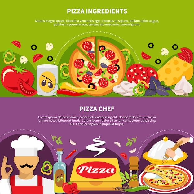 Pizza-master-banner-auflistung Kostenlosen Vektoren