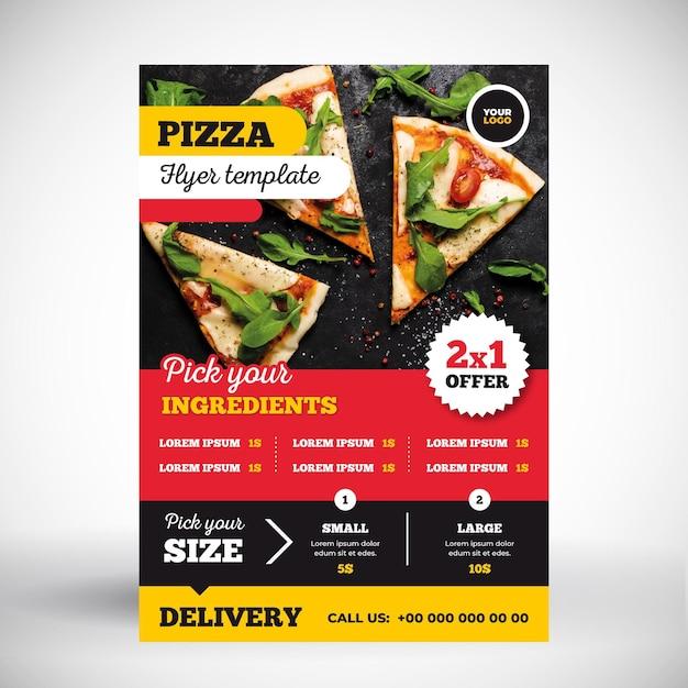Pizza-menü-konzept Kostenlosen Vektoren