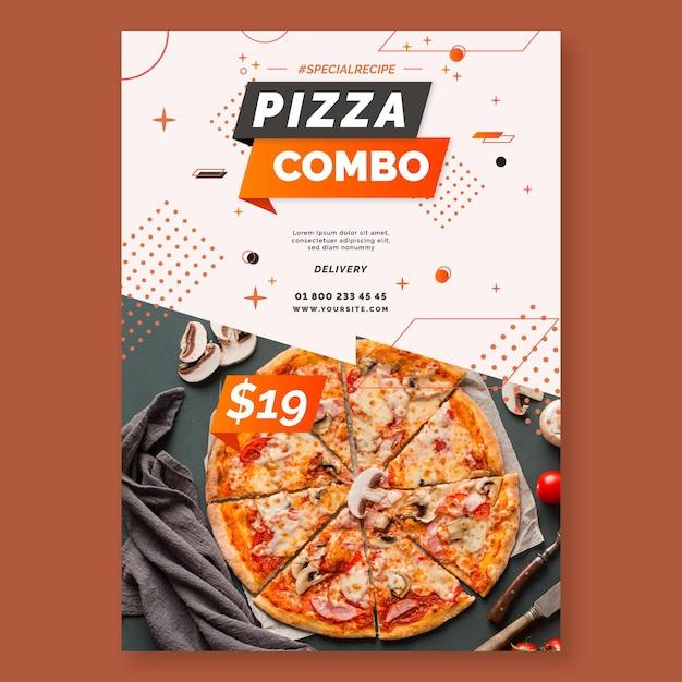 Pizza poster vorlage Premium Vektoren