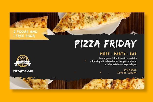Pizza restaurant banner vorlage Kostenlosen Vektoren