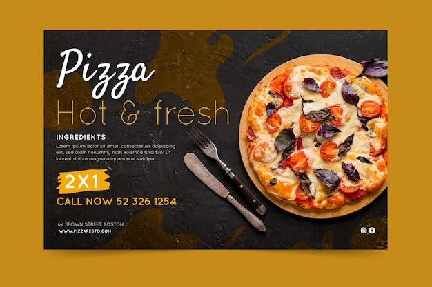 Pizza restaurant banner Premium Vektoren