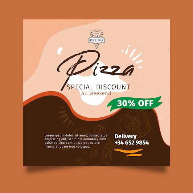 Pizza restaurant flyer platz Premium Vektoren