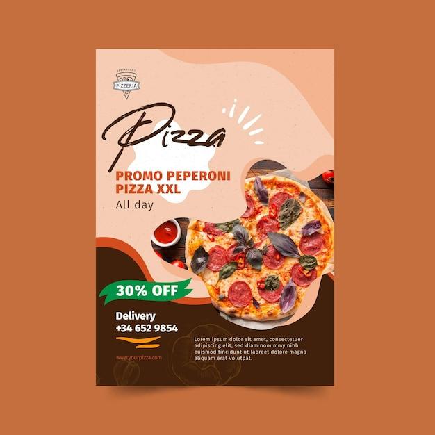Pizza restaurant flyer vertikal Premium Vektoren