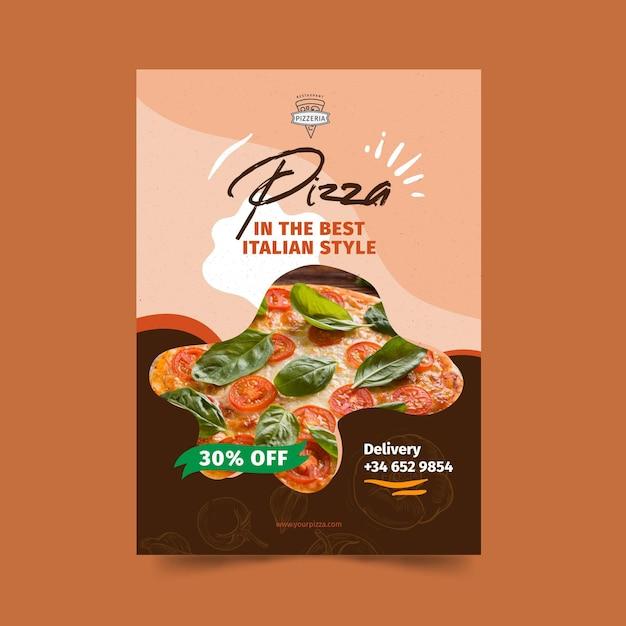 Pizza restaurant poster Kostenlosen Vektoren