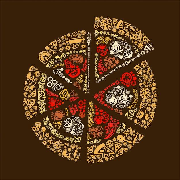 Pizza Premium Vektoren