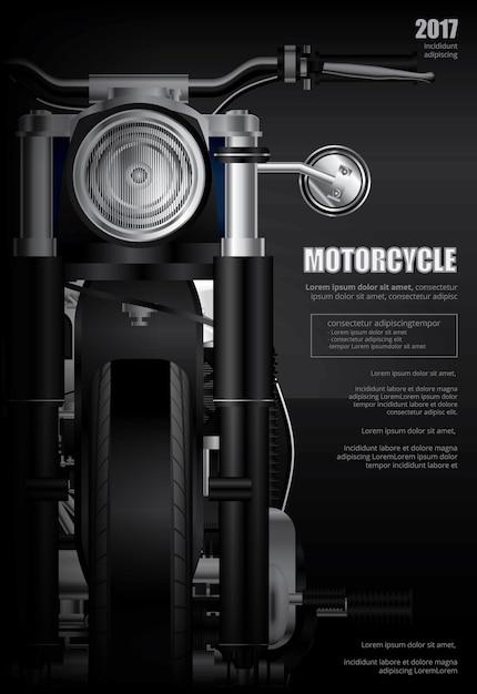 Plakat-zerhacker-motorrad lokalisierte vektor-illustration Premium Vektoren