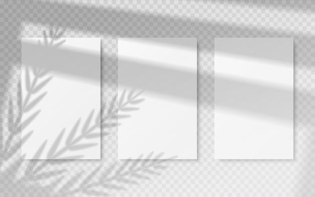 Plakate mit schattenüberlagerungsillustration Premium Vektoren