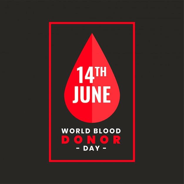 Plakatentwurf für internationalen weltblutspendertag Kostenlosen Vektoren