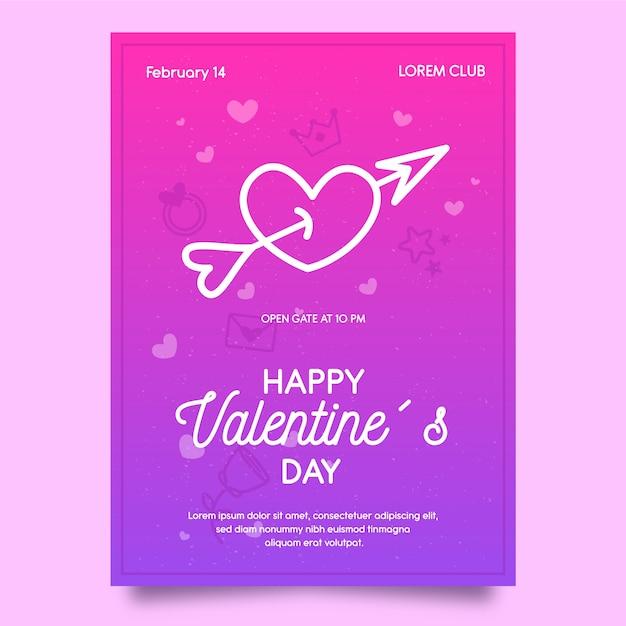 Plakatschablone für valentinstag Kostenlosen Vektoren