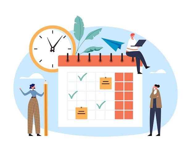 Planen sie den terminplan des organisators für die tägliche kalender-checkliste. Premium Vektoren