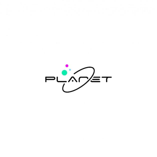 Planet-logo Premium Vektoren