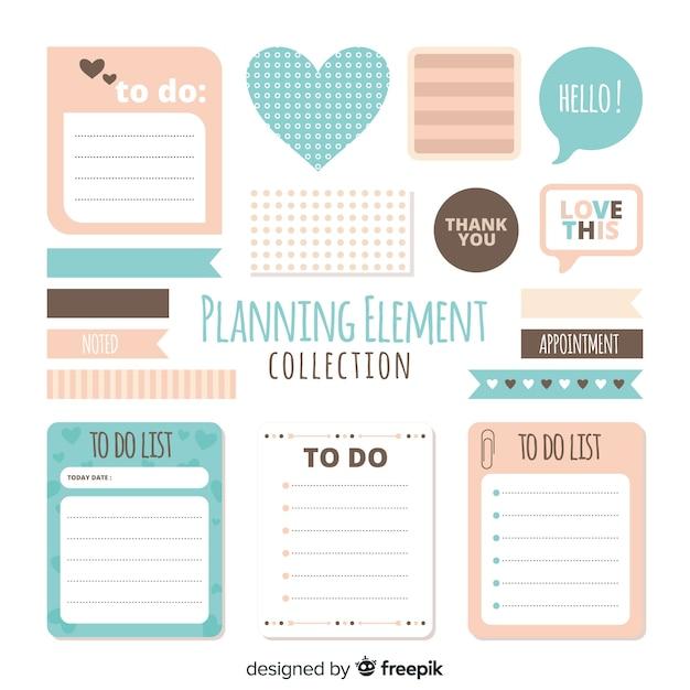 Planungselemente beispiel Kostenlosen Vektoren