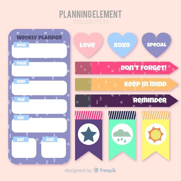 Planungselemente-sammlung Kostenlosen Vektoren