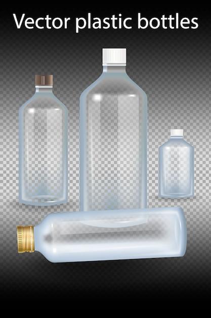 Plastikflasche abbildung. Premium Vektoren