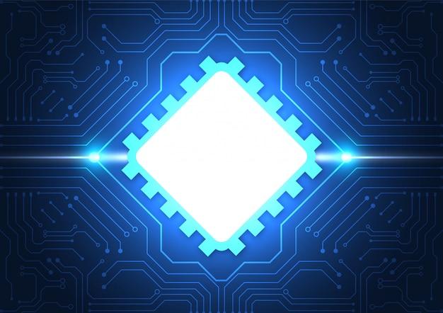 Platine technologie hintergrund Premium Vektoren