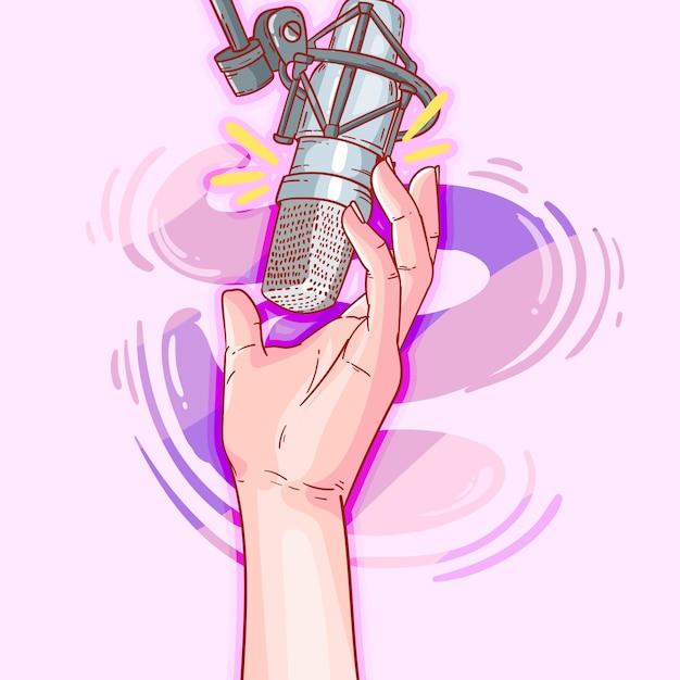Podcast-konzeptillustration Premium Vektoren