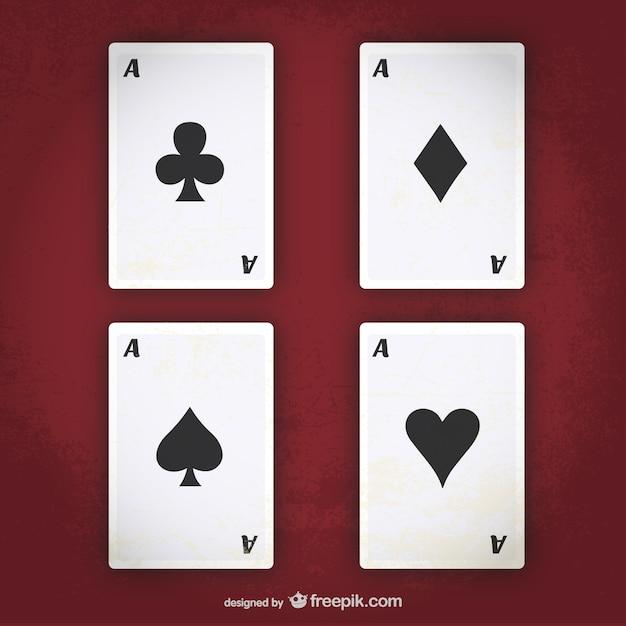 Poker-asse vektor Kostenlosen Vektoren