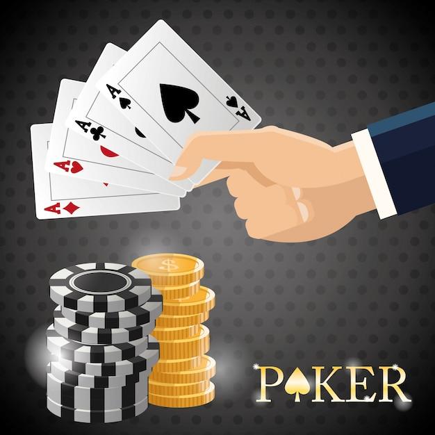 Poker-design Premium Vektoren