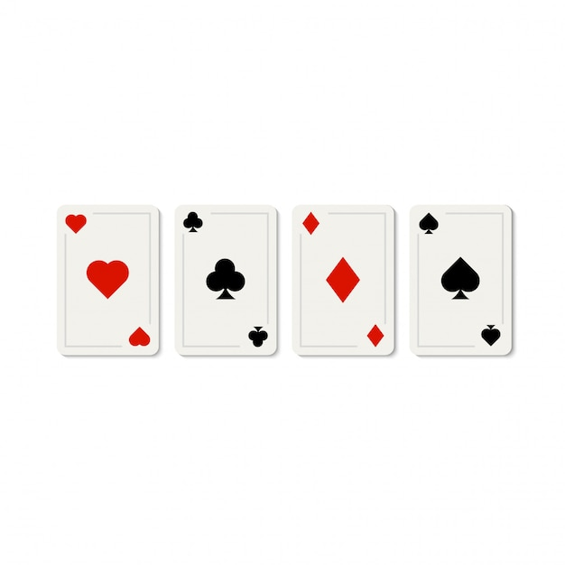 Poker gaming casino karten vorlage Premium Vektoren