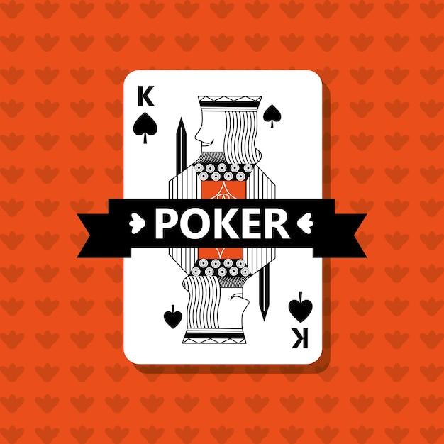 Poker könig spaten spiel banner band Premium Vektoren